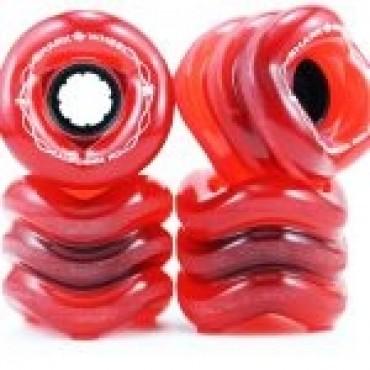 Shark Wheel California Roll 60mm 78A Transparent Red