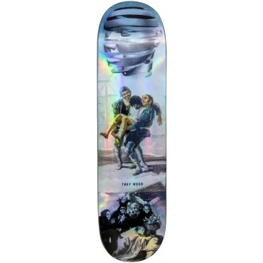"""MADNESS Trey Wood Blackout R7 8,25"""" Skateboard Deck Holographic"""