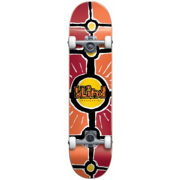 """BLIND Round Space V2 Youth FP Soft Wheels Complete 7.0"""" red/orange"""