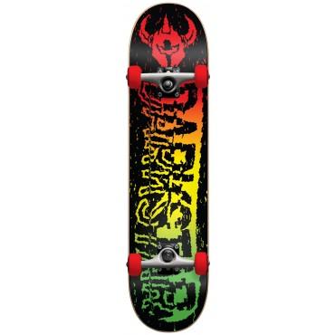 """DARKSTAR VHS FP Complete Skateboard mit soft wheels 7,5"""" rasta"""