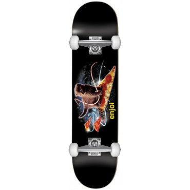 ENJOI Pizza Kitten Youth 7.25 Complete Skateboard black
