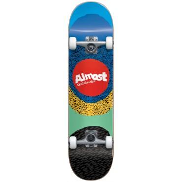 "ALMOST Radiate 8.25"" FP Complete Skateboard blue"