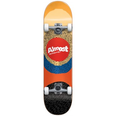 """ALMOST Radiate 7.5"""" FP Complete Skateboard yellow"""