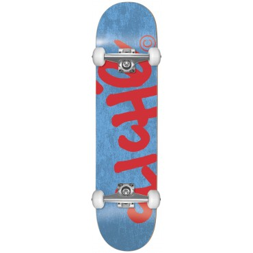CLICHE Handwritten Youth FP Complete Skateboard 7.375 blue red