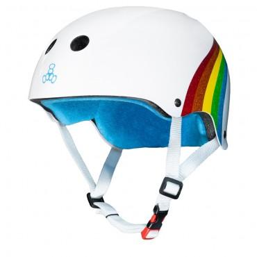 TRIPLE 8 Sweatsaver Certified Helmet Rainbow white