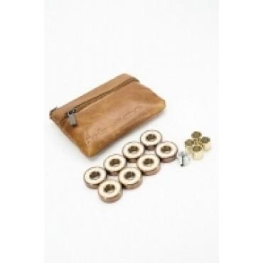 BLURS Titanium Rose Gold Abec 9 Kugellager mit Ledertasche