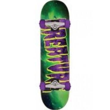 CREATURE Galaxy Logo Complete Skateboard 7,8 black green