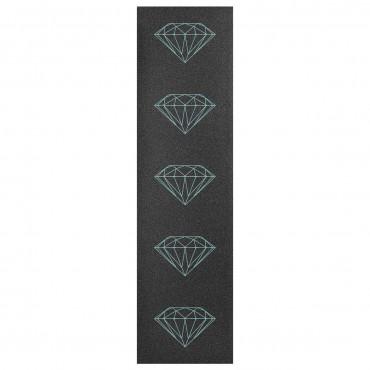 "DIAMOND Brilliant Griptape 33"" x 9"" sheet Black with blue Diamonds"