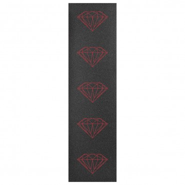 "DIAMOND Brilliant Griptape 33"" x 9"" sheet Black with red Diamonds"