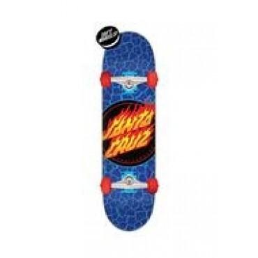 SANTA CRUZ Flame Dot Complete Skateboard 7,5 blue