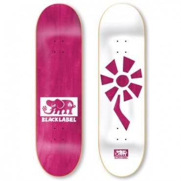 BLACK LABEL Team Flower Power Deck 8,25 white pink