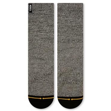 MERGE4 Sock Grey Heather L