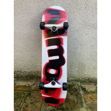 """ALMOST Spin Blur 7.375"""" red Youth FP Complete Skateboard"""