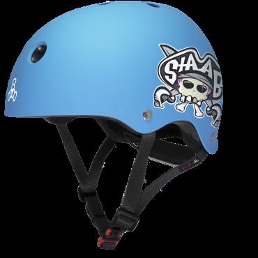TRIPLE 8 Lil 8 Staab Helmet - Neon Blue Matte