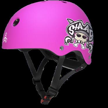 TRIPLE 8 Lil 8 Staab Helmet - Neon Pink Matte