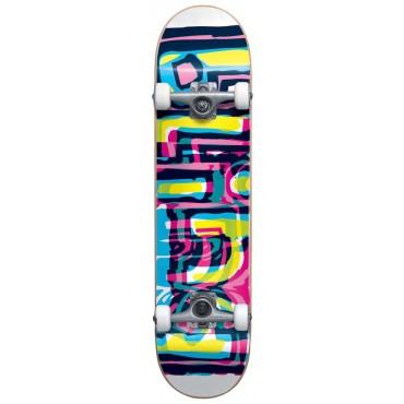 "BLIND Logo Glitch FP Complete Skateboard 7,25"" white"