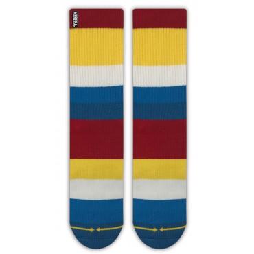 MERGE4 Sock Spidey Boat stripe bamboo L