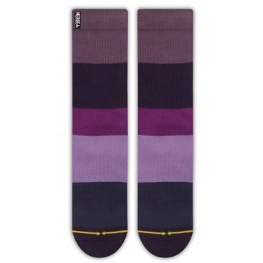 MERGE4 Sock Spidey Purple stripe bamboo M