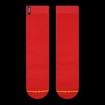 MERGE4 Sock Repreve L cherry