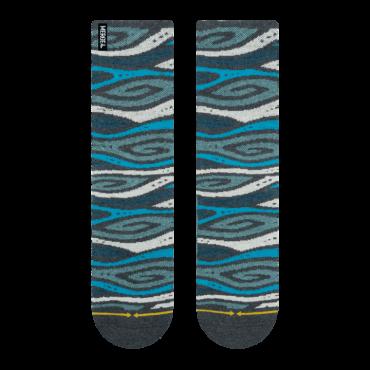 MERGE4 Sock Tencel/ Hanf wood grain M