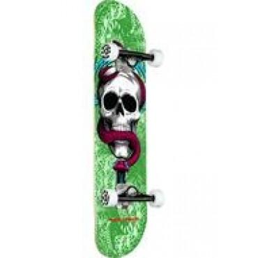 POWELL PERALTA Skull & Snake Complete Skateboard 7,75 green white