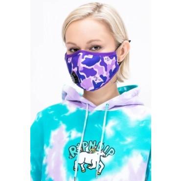 RIPNDIP purple camo ventilated Face Mask purple camo
