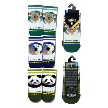 MERGE4 San Diego zoo Baby Sock 3 Pack