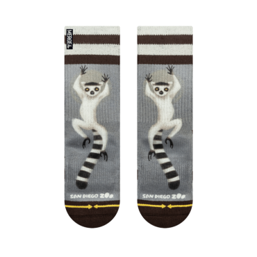 MERGE4 Sock SDZ Ring Tailed Lemur youth M