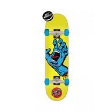 SANTA CRUZ Screaming Hand Complete Skateboard 7,75 yellow