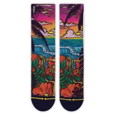 MERGE4 Sock Slogan Jungle Paradise L