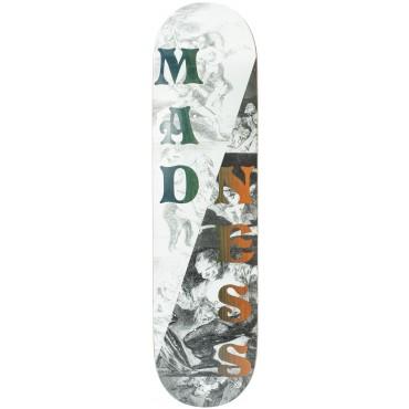 """MADNESS Split overlap R7 8,0"""" Skateboard Deck black white"""