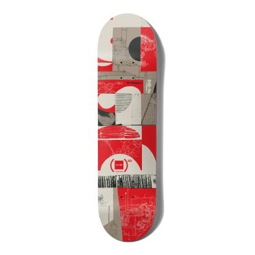 """CHOCOLATE Anderson Red 8.25"""" Deck"""