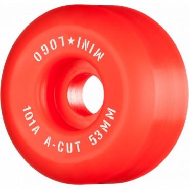 Mini Logo Wheels A-Cut #3 53mm 101A red