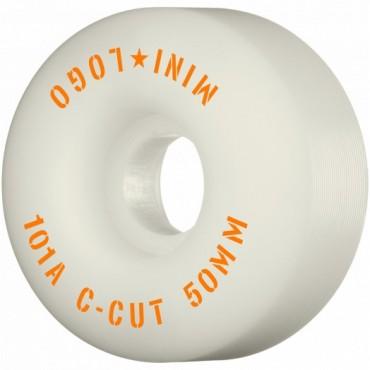 Mini Logo Wheels C-Cut #3 50mm 101A white