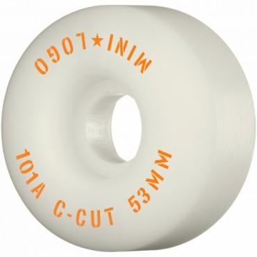 Mini Logo Wheels C-Cut #3 53mm 101A white
