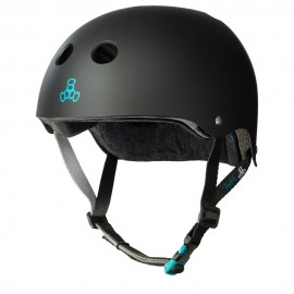 TRIPLE 8 Sweatsaver Certified Helmet Tony Hawk Black rubber