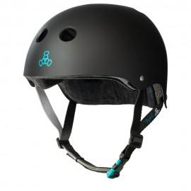 TRIPLE 8 Sweatsaver Certified Helmet Tony Hawk Black rubber