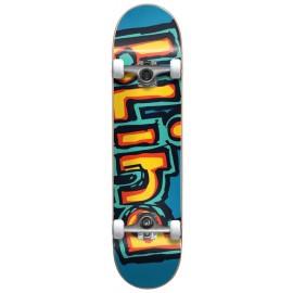 """BLIND Matte OG Logo FP Complete Skateboard 7,75"""" bright red/ teal"""