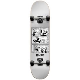 "DARKSTAR Felix News FP Complete Skateboard  7,875"" silver"