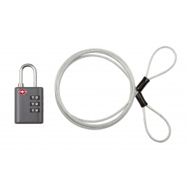 EAGLE CREEK 3-Dial TSA Lock & Cable graphite