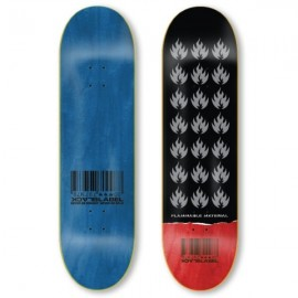 BLACK LABEL Team Flammable Material Deck 8,5 black red