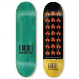 BLACK LABEL Team Flammable Material Deck 9.0 black yellow