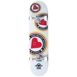 THE HEART SUPPLY Logo Complete Skateboard 7,75 white