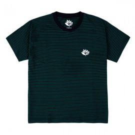 MAGENTA -Striped Plant Tee Navy & Green