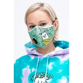 RIPNDIP Nermal leaf ventilated Face Mask green